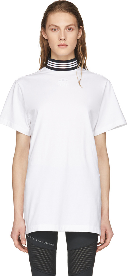 Adidas Originals White Cotton T-Shirt