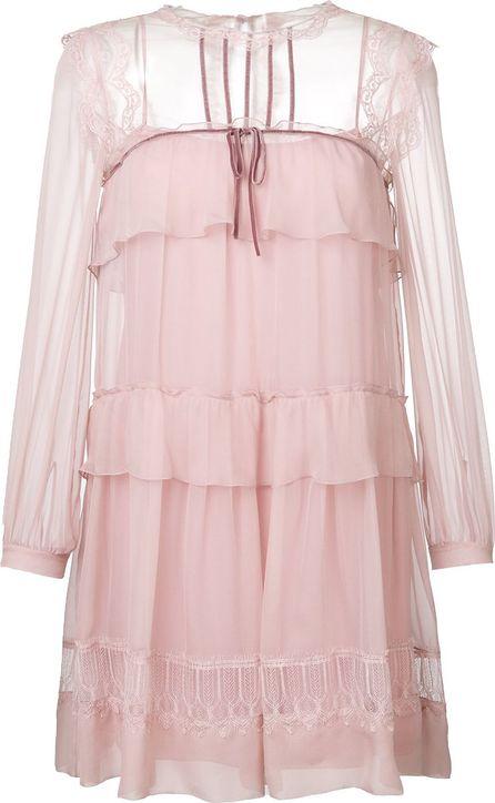 Alberta Ferretti tiered frill dress