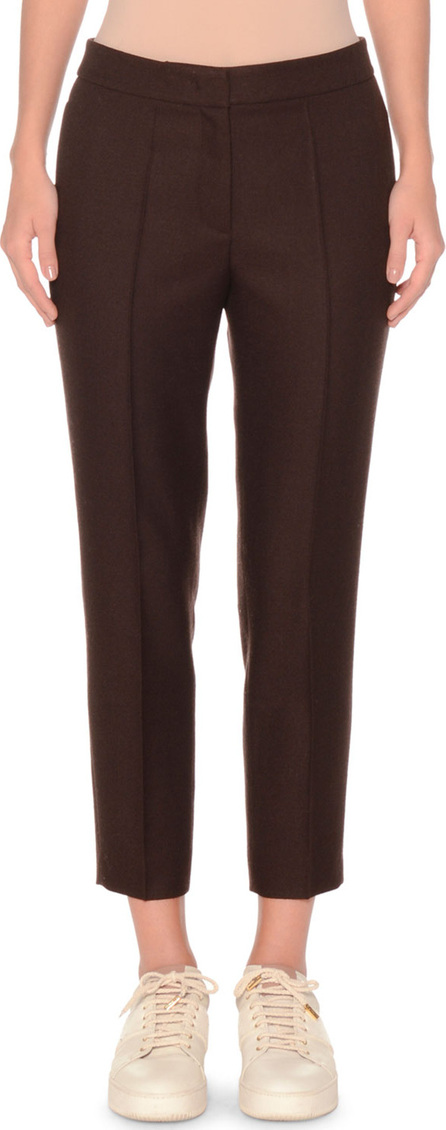 Agnona Shetland Wool Slim Cropped Pant