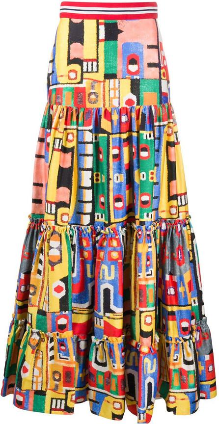 Stella Jean Colour-block maxi skirt
