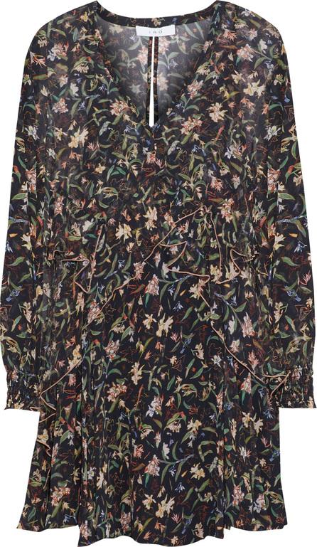 IRO Beaumont ruffled floral-print chiffon mini dress