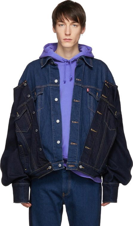 Feng Chen Wang Indigo Levi's Edition Draped Denim Jacket
