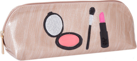 Lolo Bags Reynolds Cosmetics Bag, Brushed Rose Gold Makeup