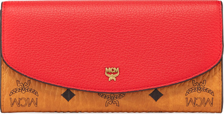 MCM Large Colorblock Visetos Leather Two-Fold Wallet