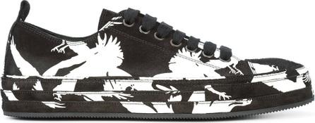 Ann Demeulemeester Contrast print low-top sneakers