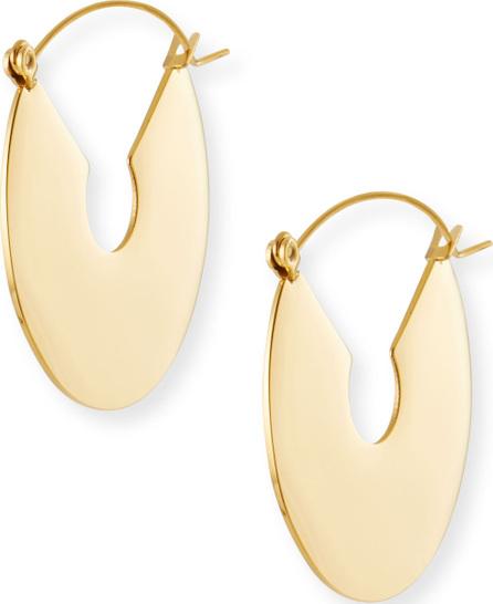 Fallon Flat Plate Hoop Earrings