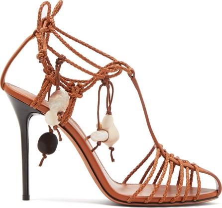 Altuzarra Tullio shell-embellished leather sandals