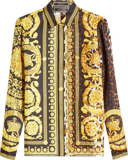 Versace Printed Silk Blouse