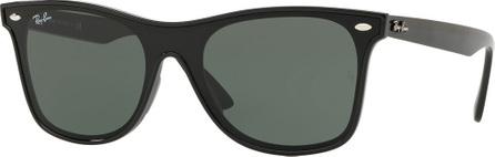 Ray Ban Blaze Wayfarer Lens-Over-Frame Square Sunglasses
