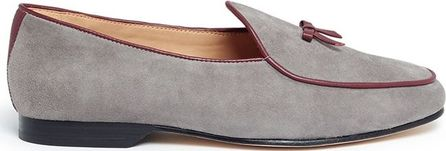 Bing Xu 'Belgian' bow suede loafers