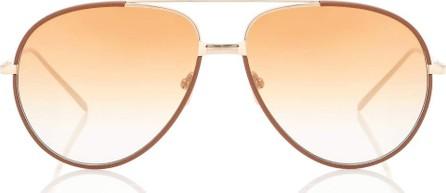 Linda Farrow 817 C8 aviator sunglasses