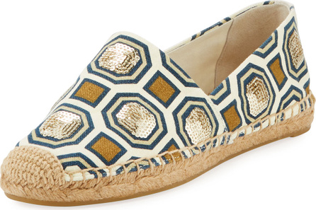 Tory Burch Cecily Embellished Flat Espadrille