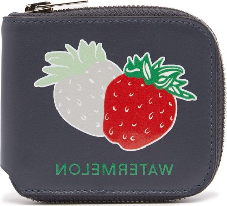 Acne Studios Strawberry-print leather wallet