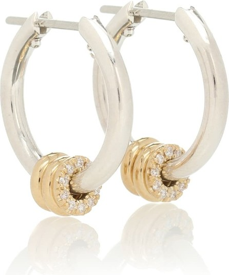 Spinelli Kilcollin Ara SG Deux sterling silver and 18kt yellow gold earrings with diamonds
