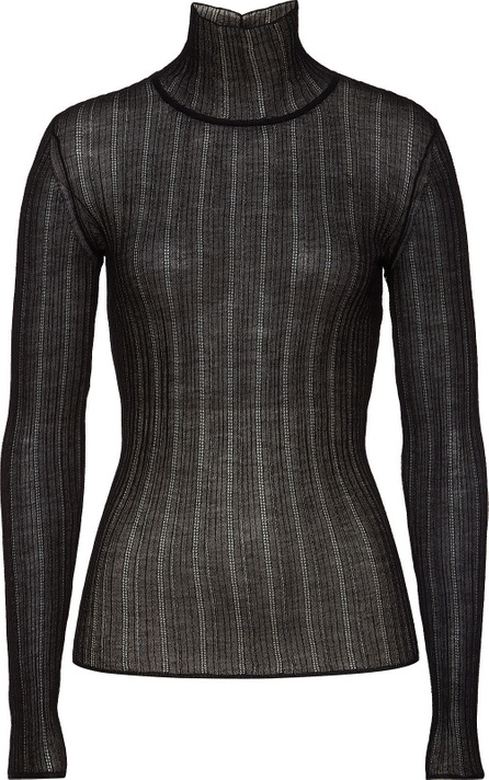 Theory Sheer Turtleneck Pullover with Wool