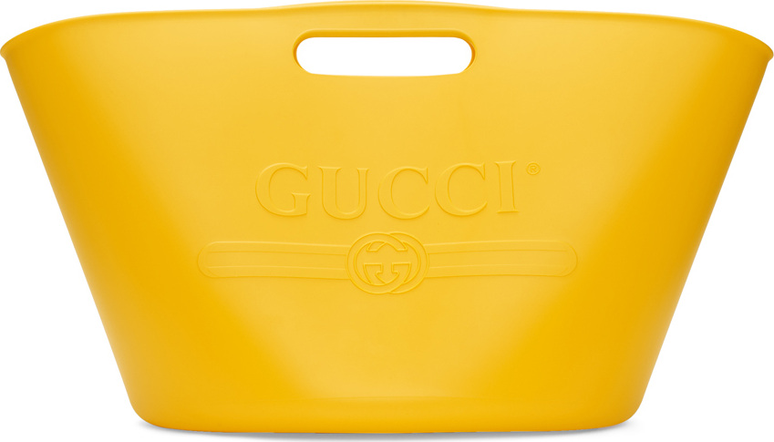 Gucci - Yellow Large Rubber Bucket Tote