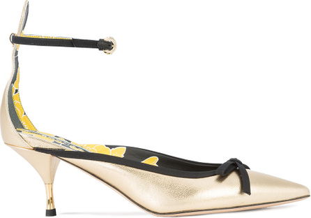 ROCHAS Pointed toe low heel pumps
