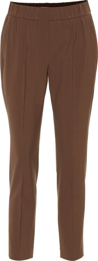 Brunello Cucinelli Stretch-wool straight-leg pants