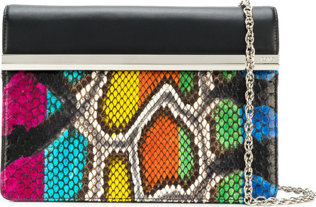 RODO Snake-effect clutch bag