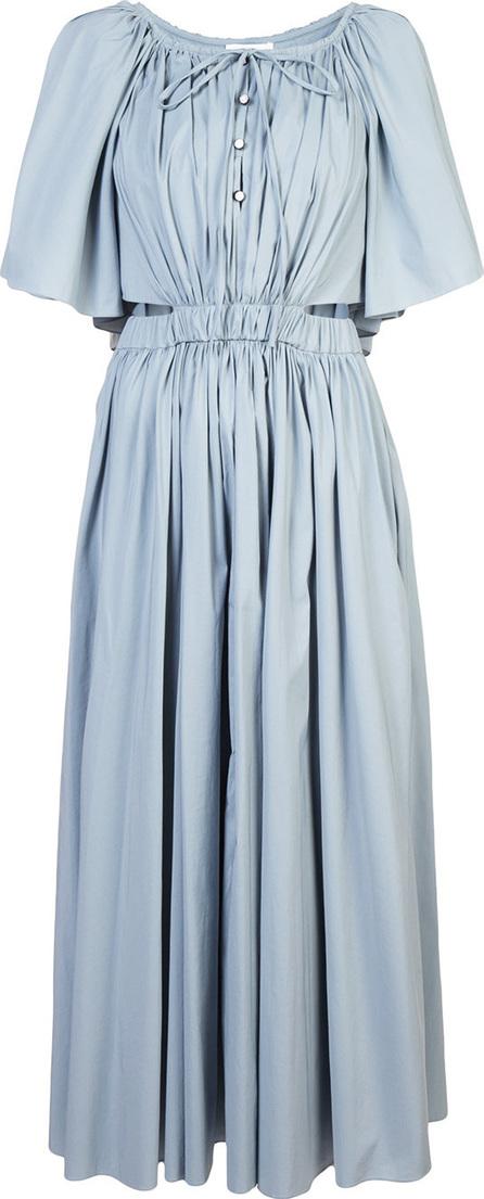 Long gathered detail dress
