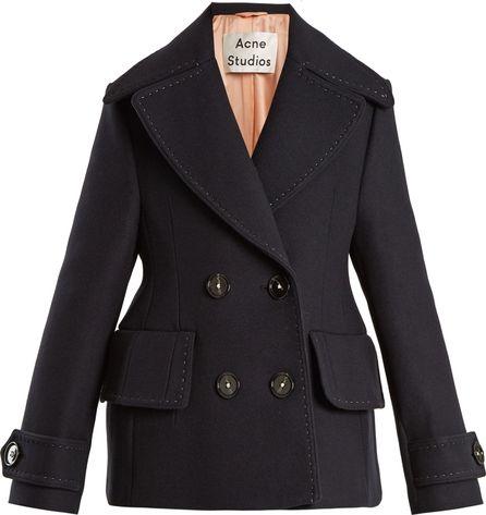 Acne Studios Cheye T Melton double-breasted wool coat