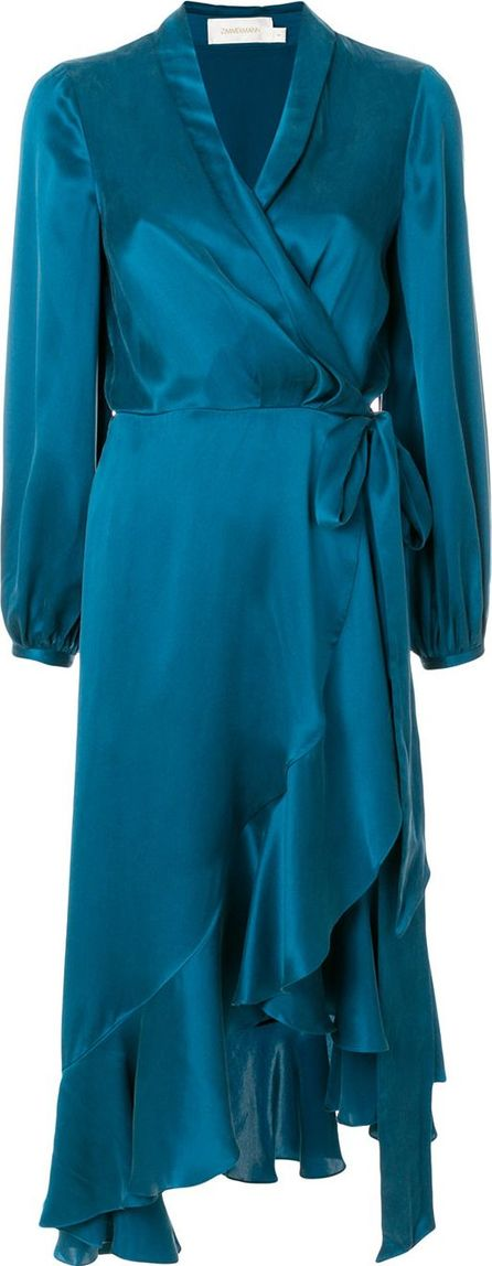 Zimmermann frill hem wrap dress
