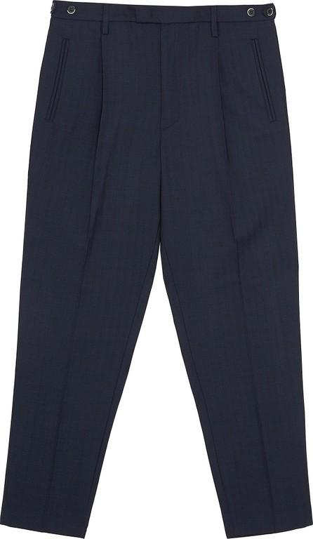 Barena Pleated stripe virgin wool pants