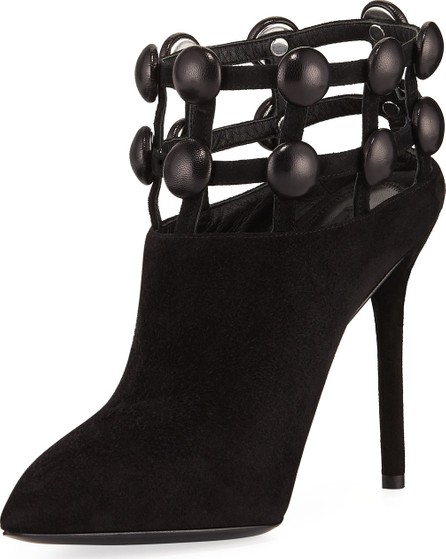 Alexander Wang Tina Suede Studded Grid Cage Booties