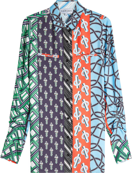 Carven Multi Scarf Print Shirt in Silk