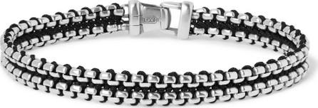 David Yurman Sterling Silver and Nylon Bracelet