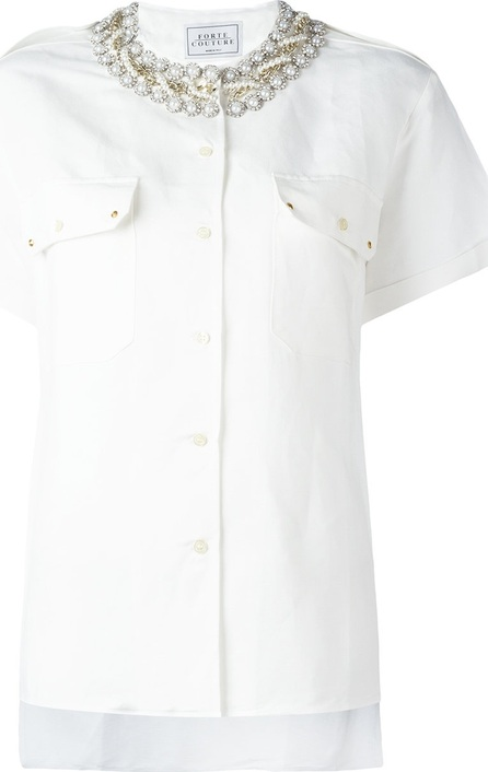 Forte Couture studded collar shirt