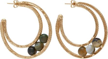 Rosantica Scarabeo stone hoop earrings