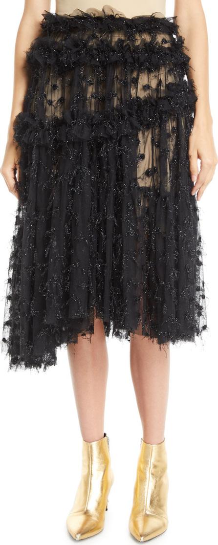 Anaïs Jourden Twinkle Shimmery Pleated Ruffle Tulle Skirt