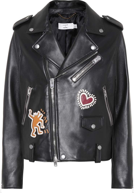 COACH X Keith Haring leather jacket