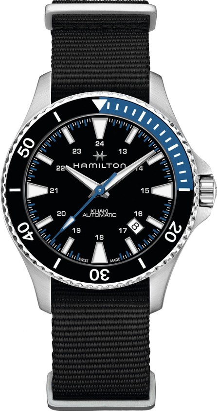 Hamilton Khaki Navy Scuba Automatic Canvas Strap Watch, 40mm