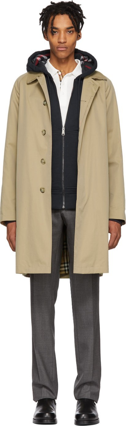 Burberry London England Beige Camden Coat