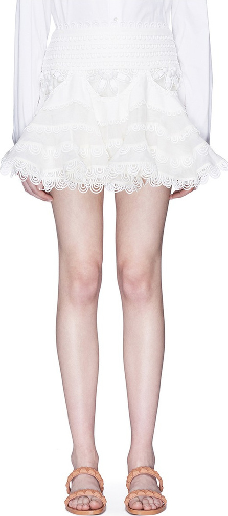 Zimmermann 'Whitewave Doily' broderie anglaise mini skirt