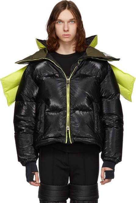 Colmar A.G.E. By Shayne Oliver Yellow & Black Down Tyvek Concept Coat