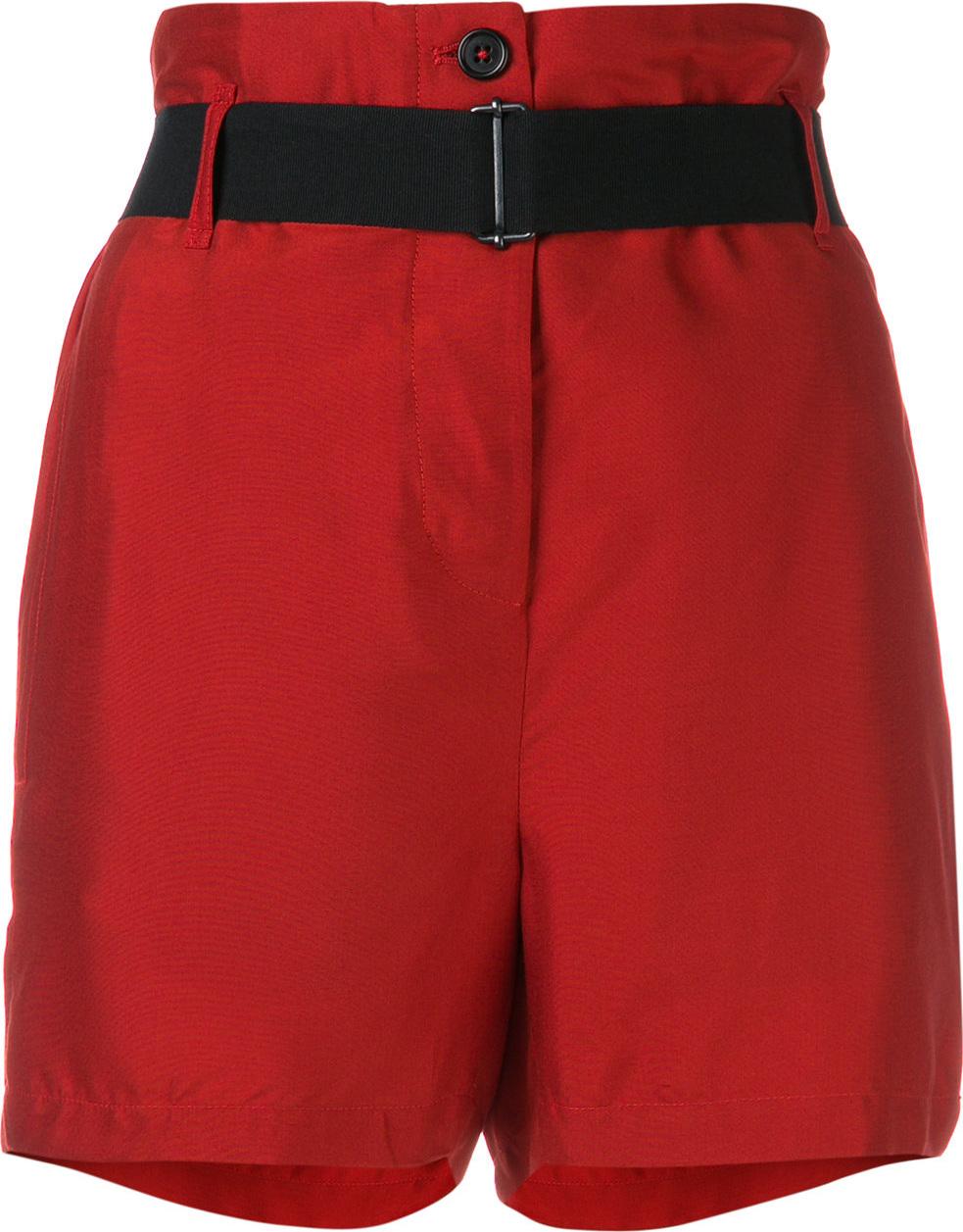 Ann Demeulemeester - Belted high-waist shorts