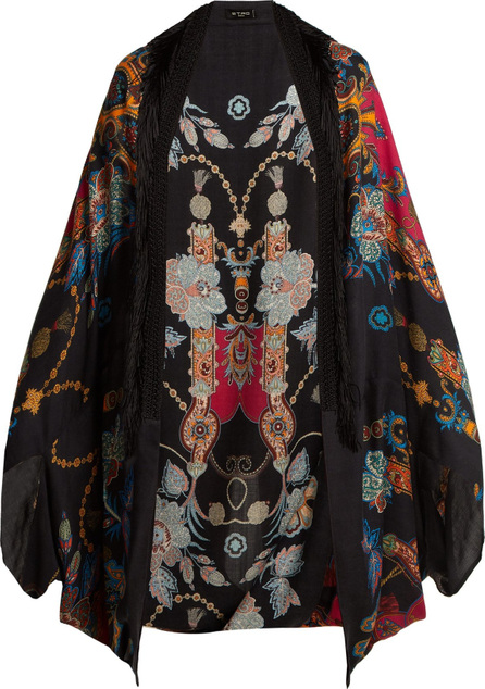 Etro Printed cashmere-blend poncho