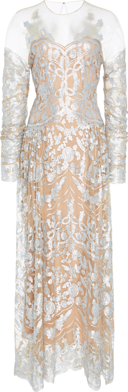 Alena Akhmadullina Embroidered Metallic Lace Dress