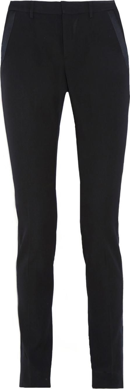 Saint Laurent Satin-trimmed wool skinny pants