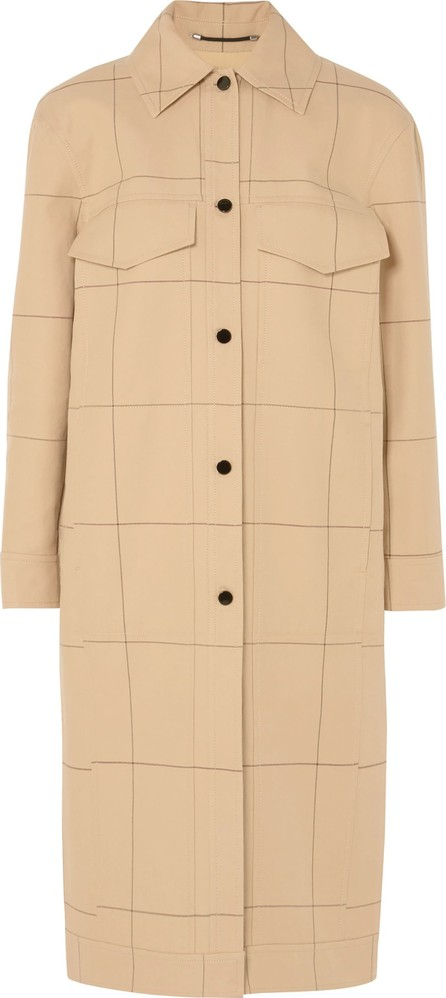 By Malene Birger Keiko checked cotton and linen-blend canvas coat