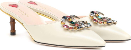 Gucci Embellished leather mules
