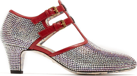 Gucci Crystal-embellished leather pumps