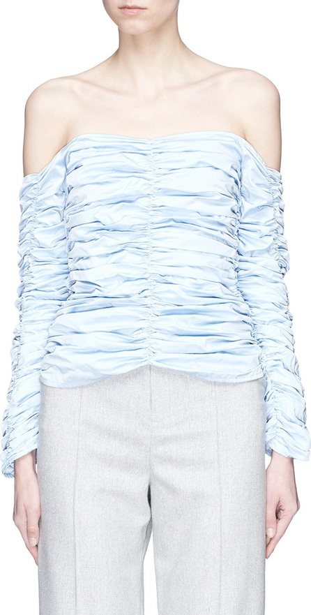 Georgia Alice 'Girlsss' ruched off-shoulder poplin top