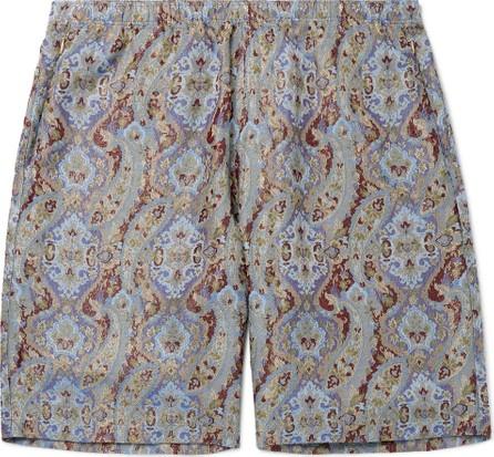 Needles Wide-Leg Paisley Jacquard Shorts