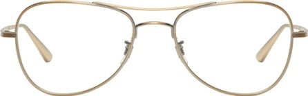 Oliver Peoples Gold Executive Suite Aviator Glasses