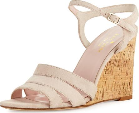 Kate Spade New York tamara cork wedge sandal, blush