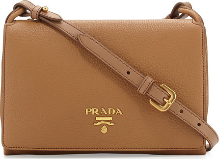 Prada Small Leather Double-Gusset Shoulder Bag